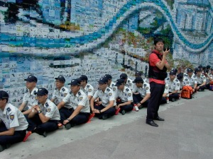 Security prepare for Buddhist protest